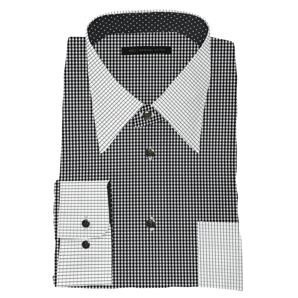 Original stitch black checkered shirt dress shirt for Original stitch shirt review