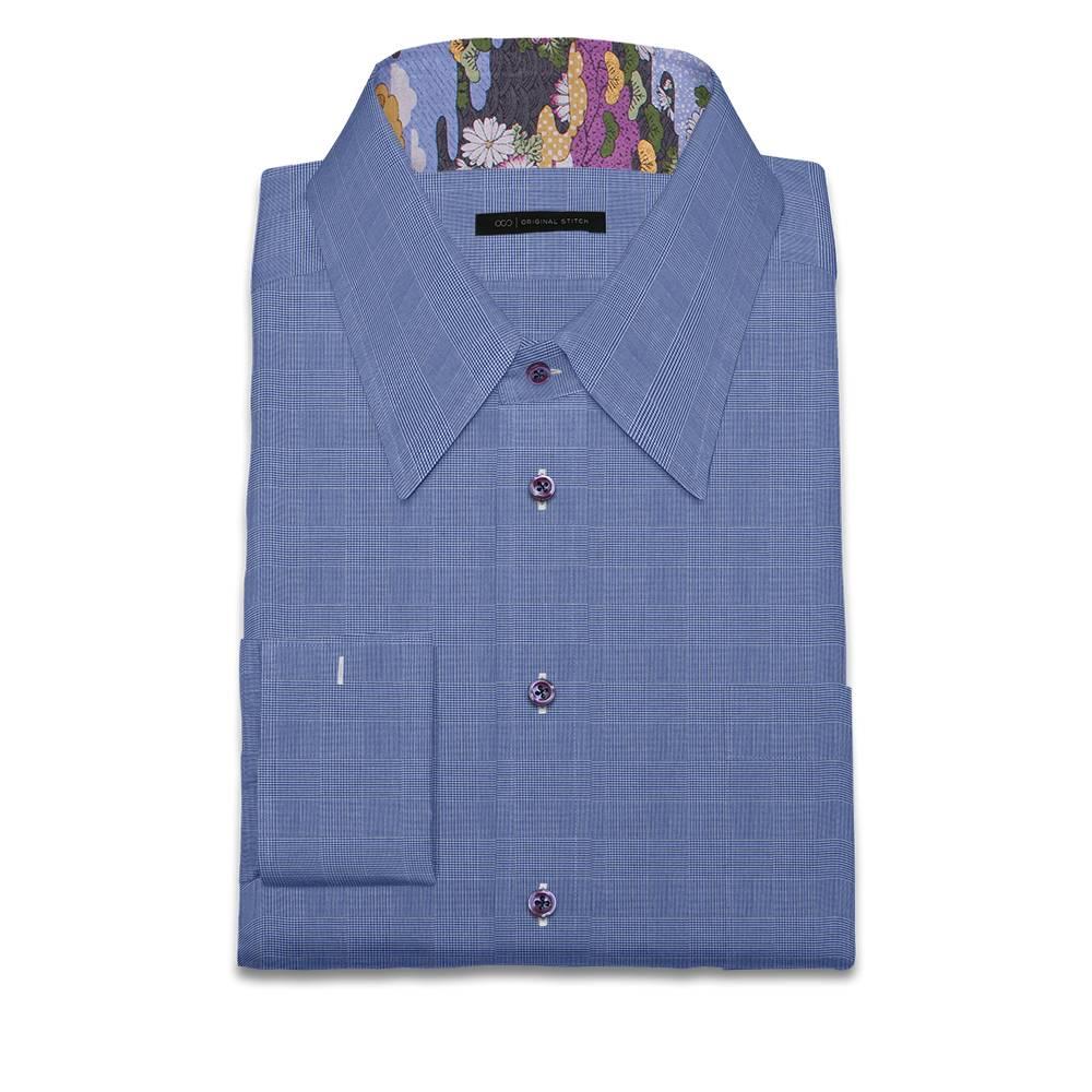 Original stitch blue geometric pattern shirt dress shirt for Original stitch shirt review