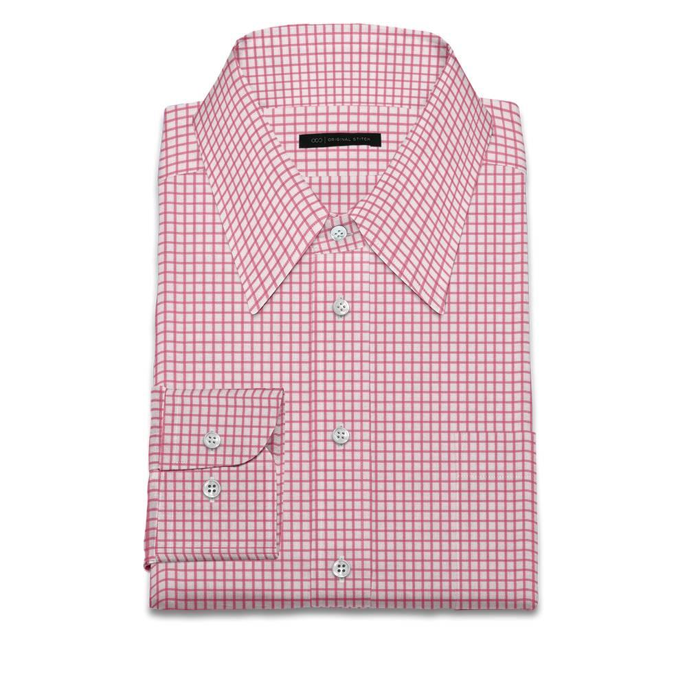 Original stitch pink checkered shirt dress shirt for Original stitch shirt review