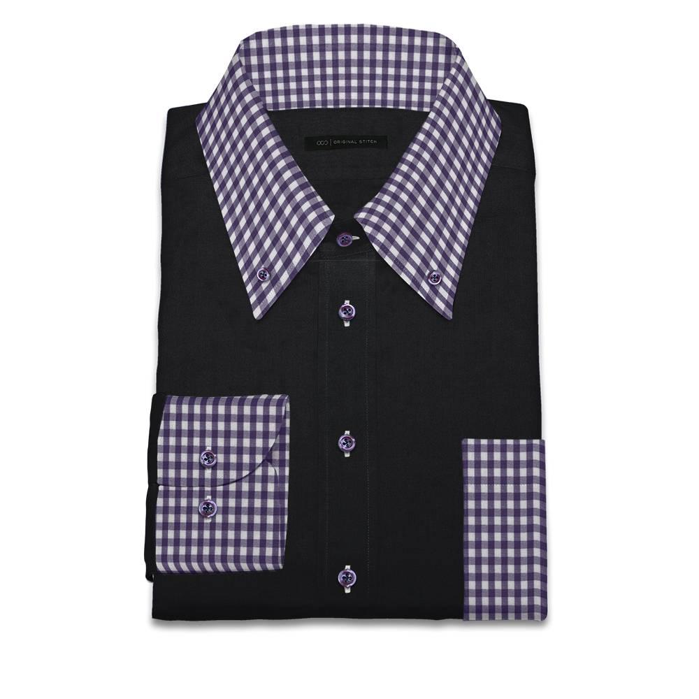 Original stitch black solid color shirt dress shirt for Original stitch shirt review