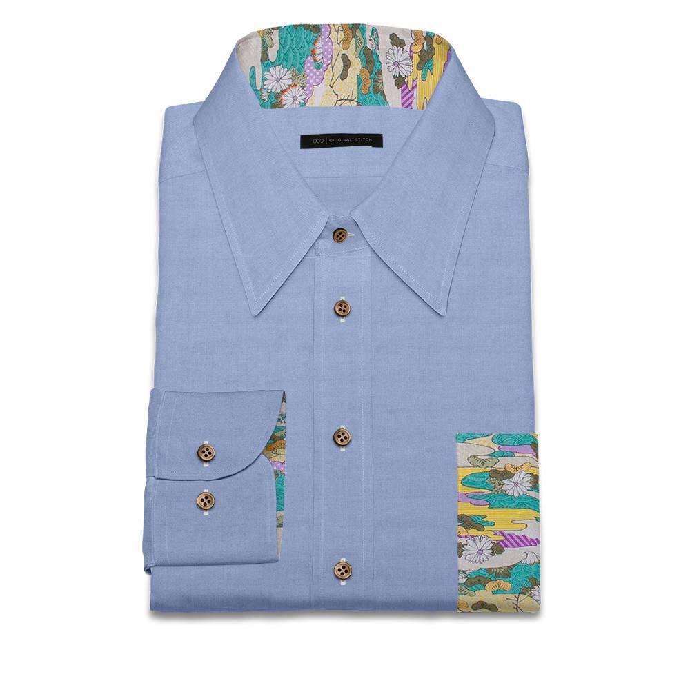 Original stitch blue solid color shirt dress shirt for Original stitch shirt review