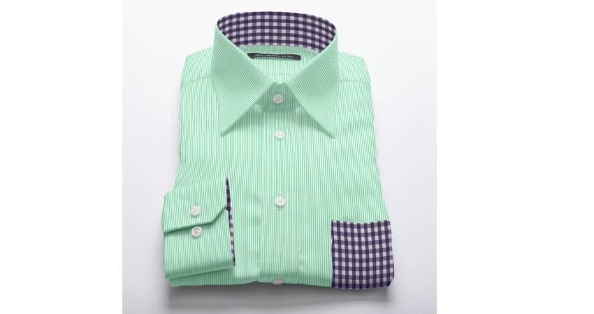 Original stitch green striped shirt dress shirt design for Original stitch shirt review